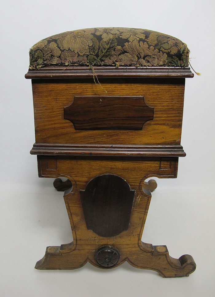 Antique victorian mahogany ornate piano vanity stool bench hidden storage nr yqz ebay - Antique vanity stools ...